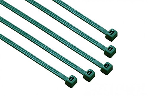 4-in Dark Green, 100-Pack, 18-lb, Standard Nylon Cable Tie
