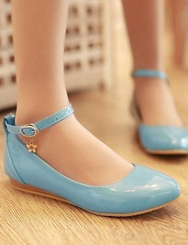 black azul talón rojo plano punta Beige Flats de cn36 us6 eu36 Casual zapatos uk4 redonda blanco negro mujer de PDX wZPISq