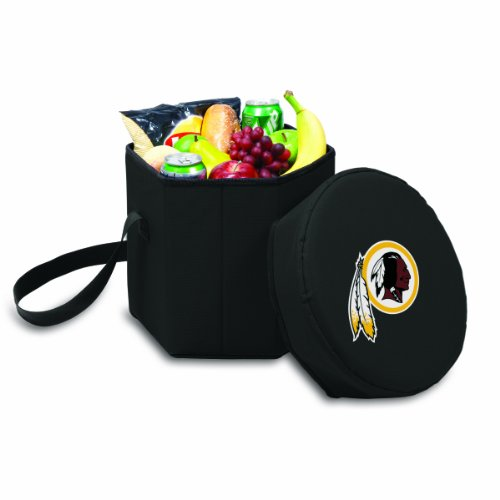PICNIC TIME NFL Washington Redskins Bongo Insulated Collapsible Cooler, Black