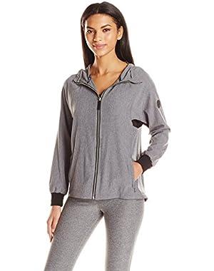 Performance Women's High Low Hem Hood Zip up Raglan Jacket