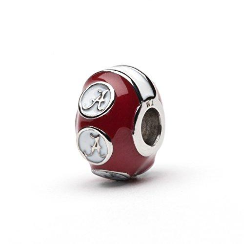 University of Alabama Charm Bracelet | Crimson Tide Gifts | Stainless Steel Alabama Jewelry | Alabama Logo Charm Bracelet by Stone Armory (Image #4)'