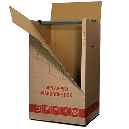Kit de 2 cajas de cartón para colgar ropa,de 50 x 60 x 111 ...