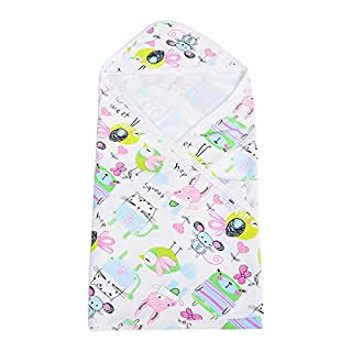 Meiyya Baby Bath Towel, Newborn Cotton Hooded Bathrobe Quilt for Kids(Crayon Doodles)