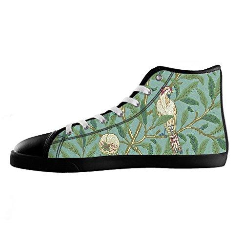 Chaussures De Toile De Coutume De L'oiseau Et De La Forêt Les Chaussures De Lacets Chaussures Baskets Montantes