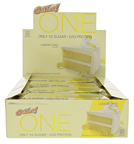 ISS Oh Yeah! One Bar Lemon Cake 24 - 2.12 OZ Bars by ISS OhYeah!