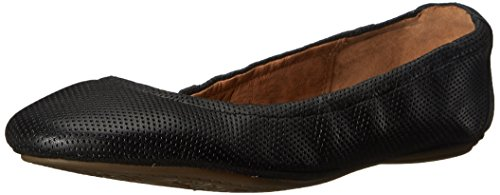 Women's Leather Perfed Grayson Flat Ballet Erica Clarks Black AZdqAg