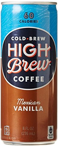 High Brew Cold Brew Coffee 6 - 8oz Cans (Mexican Vanilla)