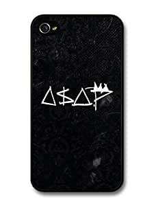 AMAF ? Accessories ASAP Rocky Black and White Logo case for iPhone 4 4S Kimberly Kurzendoerfer