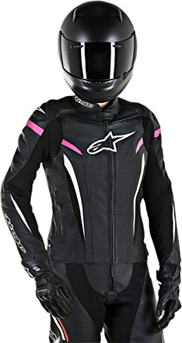 Alpinestars Stella GP Plus R V2 Leather Jacket Black/White/Pink Womens Size 10