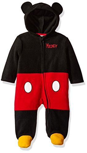 Disney Baby Boys' Mickey Mouse Costume Coverall, Black, 6/9 (Baby Costumes For Boys)