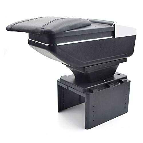 Oneuda Armrest Box for Toyota fj Cruiser, Universal Retractable Armrest Rotatable Center Console Storage Box with Cup Holder and Removable Ashtray