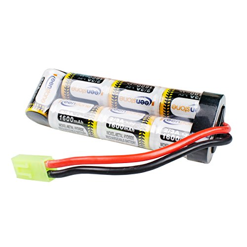 Keenstone Upgrade 8.4V NiMH 1600mAh Butterfly Nunchuck Stick Mini Battery Pack (8.4V 1600mAh Flat Battery)