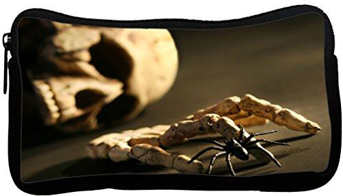 Rikki Knight Skull and Hand Bone Design Neoprene Pencil C...