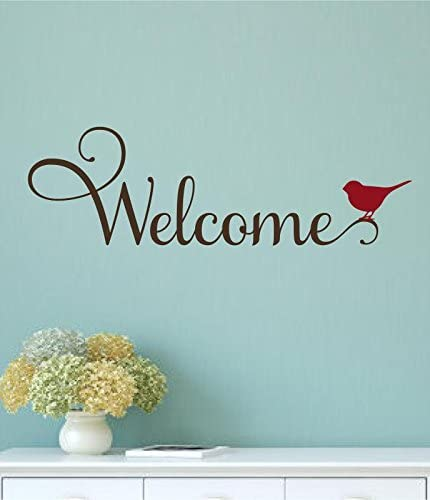 Welcome decal welcome decal for the door door decal lettering vinyl welcome wall decal