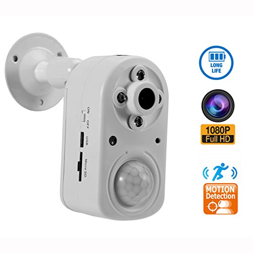 Motion Detection Security Camera,eoqo 1080P PIR Sensor Camera with Night Vision,Battery Powered Home Surveillance Camera Support 24 Months Standby Time by eoqo