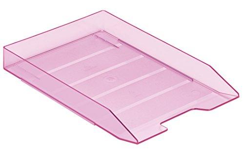 Acrimet Stackable Letter Tray (Clear Pink Color) (1 Unit)