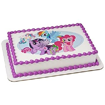 Amazon Com My Little Pony Edible Icing Image Cake Topper Kitchen
