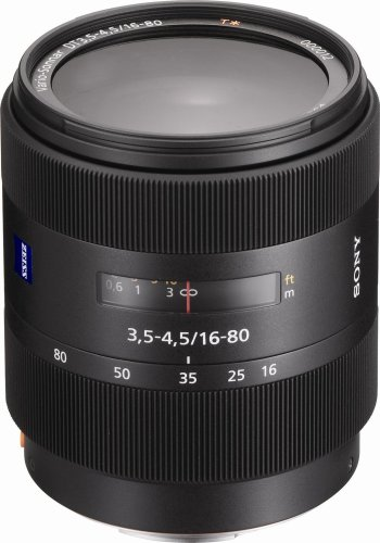 Sony 16-80mm f/3.5-4.5 Carl Zeiss Vario-Sonnar T DT Zoom Lens for Sony Alpha Digital SLR Camera (Carl Zeiss Lens Sony)