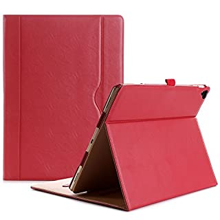 ProCase iPad Pro 12.9 2017/2015 Case (Old Model) - Stand Folio Case Cover for Apple iPad Pro 12.9 Inch (Both 2017 and 2015 Models), with Multiple Viewing Angles, Apple Pencil Holder -Red