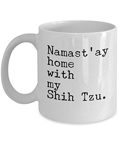 ast'ay Home with my Shih Tzu Mug 11 oz. Coffee Cup ()