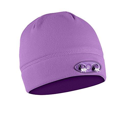 POWERCAP LED Beanie Cap 35/55 Ultra-Bright Hands Free LED Lighted Battery Powered Headlamp Hat - Purple Fleece (CUBWB-5628)