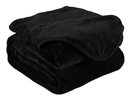 ury King Size Flannel Velvet Plush Solid Bed Blanket (90