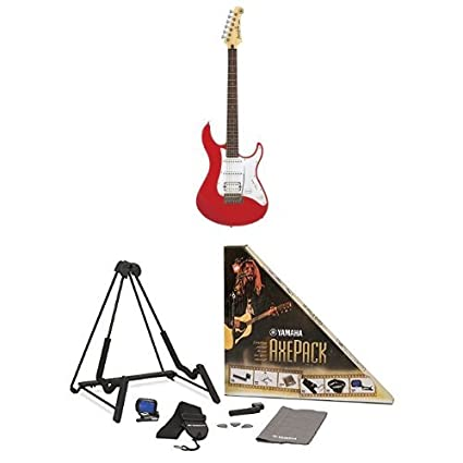 Yamaha Pacifica Series PAC112J Electric Guitar, Metallic Red, with Yamaha Accessories Pack