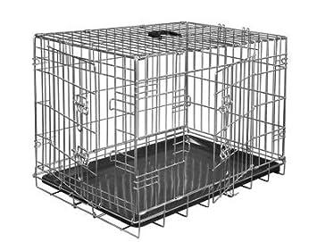 VADIGRAN Cage métallique pliable Classic - 91 x 61 x 66 cm - Argent - Pour chien: Amazon.es: Productos para mascotas