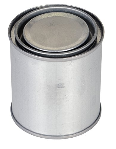 Paint Cans Steel (Vestil MRC-8 Tin Plated Steel Round Can with Metallic Lid, 2-3/4