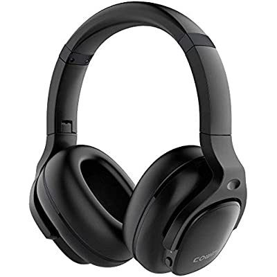 cowin Active Noise Cancelling Headphones Bluetooth Headphones Wireless Headphones Over Ear with Microphone Aptx  Comfortable Protein Earpads  Hours Playtime for Travel Work Black
