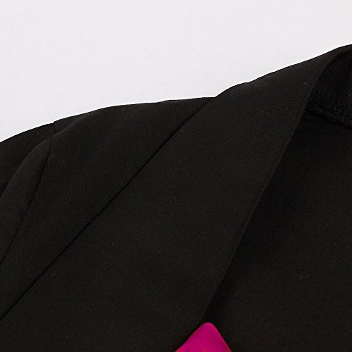 VKStar - Vestido - para mujer Bordeaux-Fleur