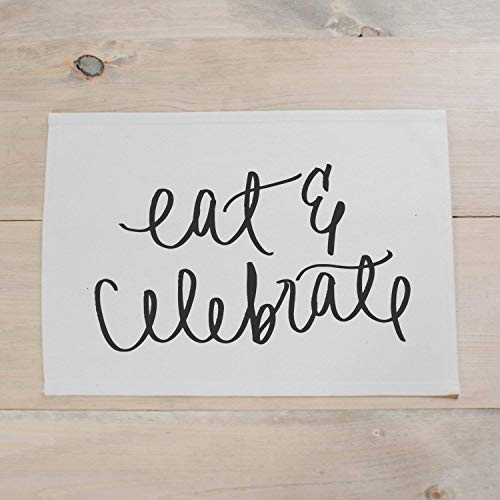 - Eat & Celebrate Placemat, home decor, present, housewarming gift, tablewear, table scene, place setting, set the table, place mat