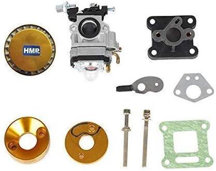 Hmparts Poche de V/élo Mini Croix Tuning Carburateur Kit 47 Ccm 49 Ccm 15 mm Or