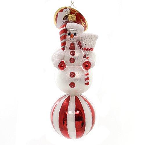 Christopher Radko Cherry Ice Pose Snowman Christmas Ornament
