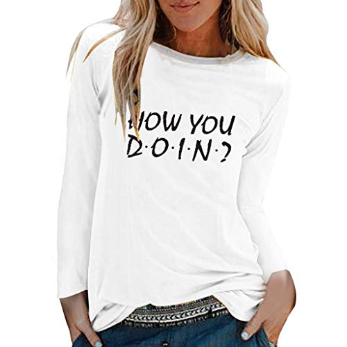 KANGMOON Women's Casual Loose Plus Size Print Tops Long Sleeve Round Neck Pullover Tunic T Shirt Blouse from KANGMOON