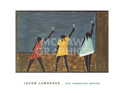 ((18x24) Jacob Lawrence The Migration Series No 58 1941 Art Print Poster )