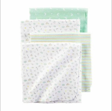 Carter's Music Note Receiving Blankets - Set of 4 (Bedding Sets Carters Baby)