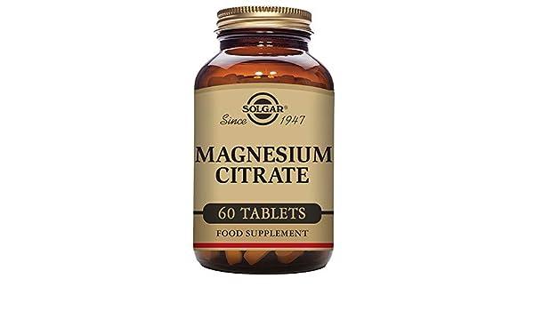 Solgar Citrato Magnesio - 60 Tabletas: Amazon.es: Salud y cuidado personal