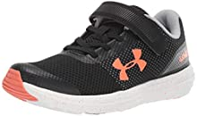 Under Armour Kids' Pre School Surge RN Alternate Closure Sneaker, Black (003)/White, 1