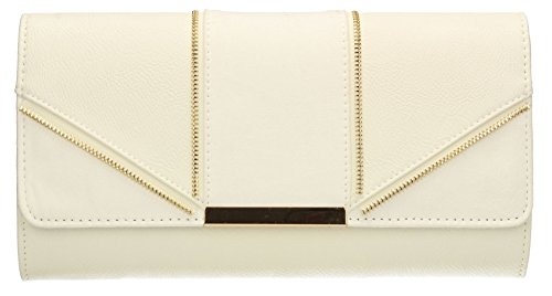 Elegant Ontario Wedding Zipper Clutch Ladies Prom Bridal White SWANKYSWANS Bags Clutch Bag Party Womens Evening rERwxgzqE