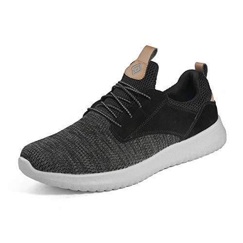 Bruno Marc Men's Slip On Walking Shoes Sneakers Walk-Work-01 Black Grey Size 7 M US