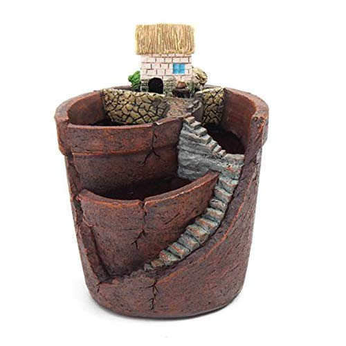 Bonsai Pot Round with Drainage Plant Potted Soil Small Pot Decorative Sculptured Organizer Indoor Outdoor Decor Pot & E Book by Easy2Find