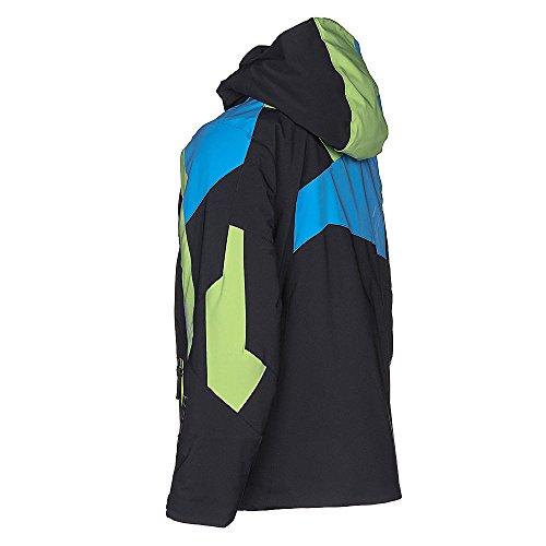 Spyder Kids Boy's Avenger Jacket (Big Kids) Black/Fresh/Fresh Blue 14 by Spyder (Image #7)