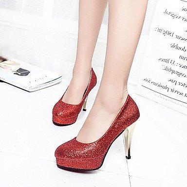 LvYuan-GGX LvYuan-GGX LvYuan-GGX Damen High Heels Kunstleder Sommer Herbst Glitter Stöckelabsatz Schwarz Silber Rot Rosa 2 5-4 5 cm schwarz us5.5   eu36   uk3.5   cn35 231e66