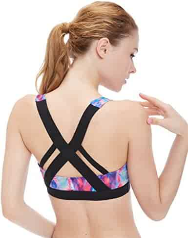 2d1d4e598127d icyzone Women s Workout Yoga Clothes Activewear Racerback Strappy Sports  Bras