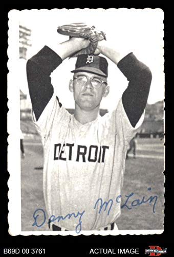 1969 Topps Deckle Edge # 8 Denny McLain Detroit Tigers (Baseball Card) Dean's Cards 3 - VG Tigers
