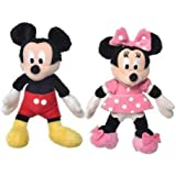 Disney Mickey Mouse Clubhouse 5 Inch (13cm) Mickey & Minnie Soft Plush Toy