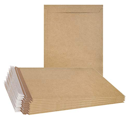 ABC 10 Pack Natural Kraft Stay Flat Mailers 6 x 8 Brown Chipboard envelopes 6x8. Rigid Paperboard mailers. Photography Mailers. No Bend documents, Photo, Prints. Peel and Seal. Tear-Tab. Wholesale.