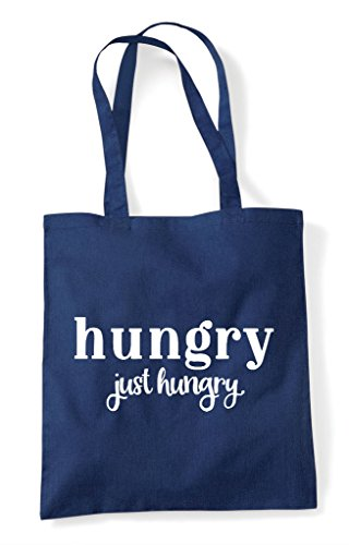 Tote Navy Statement Shopper Just Hungry Bag wqUnEFZRxp