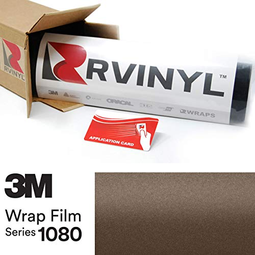 3M 1080 M209 Matte Brown Metallic 5ft x 1ft W/Application Card Vinyl Vehicle Car Wrap Film Sheet ()